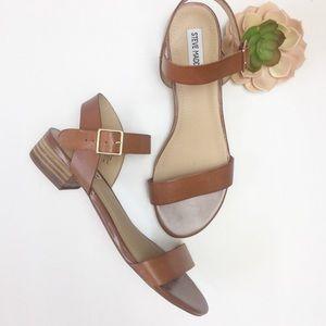 Steve Madden | Cache Cognac Low Heel Sandal
